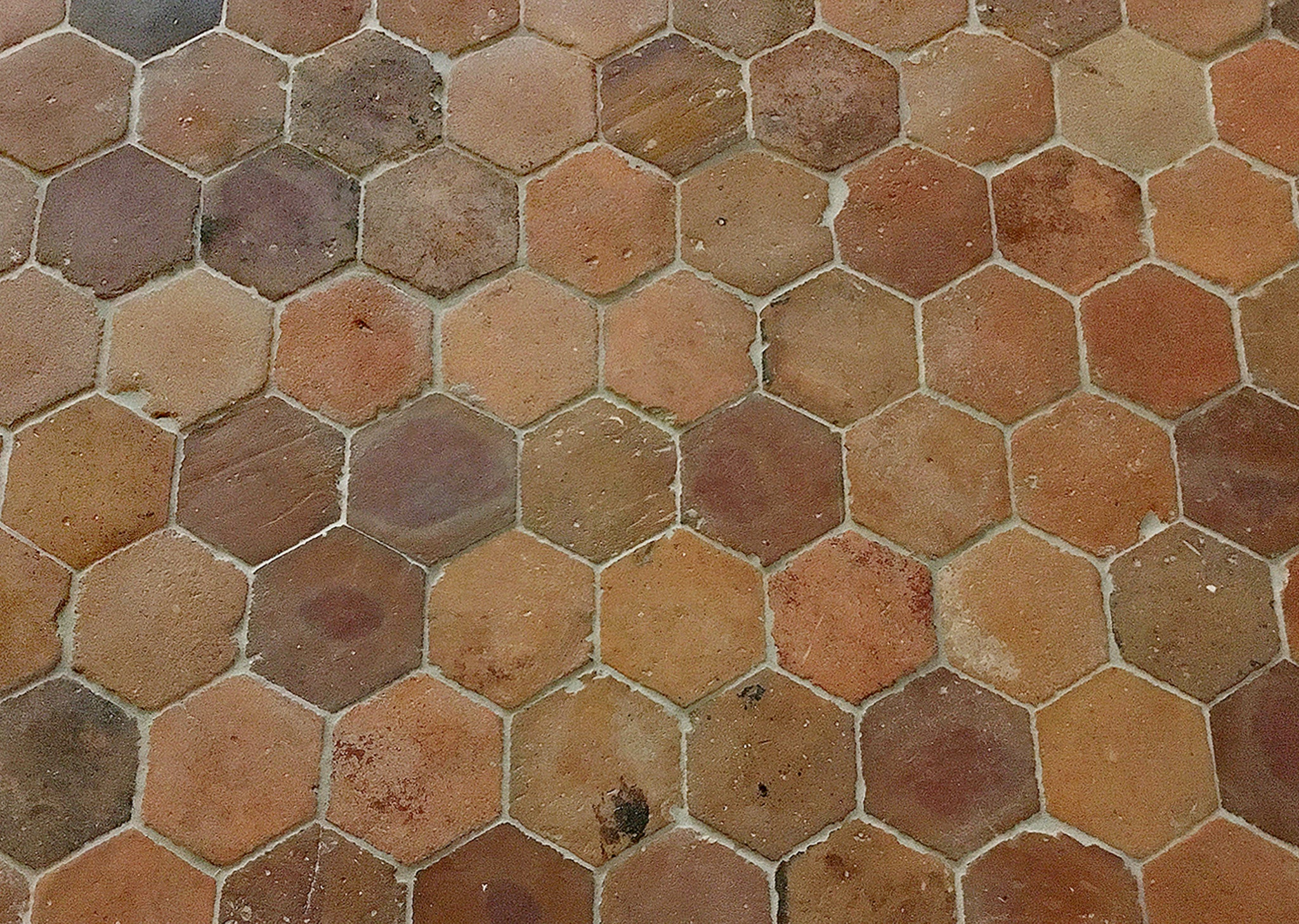 French reclaimed terra cotta tile 65 hexagon historic decorative french reclaimed terra cotta tile hexagons dailygadgetfo Images