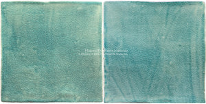 Brushstrokes from Japan, a Minimalist Hand Painted Tile Collection: Turquoise Skies