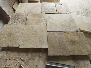 Vecchia Roma Antique 18th Century Italian Reclaimed Limestone Flooring