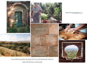 Cucina della Nonna Italian Farmhouse Terra Cotta Pavers - Color: Stone Washed Brick