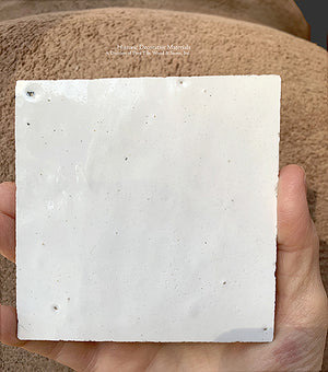 Soft Powder White Zellige Tile