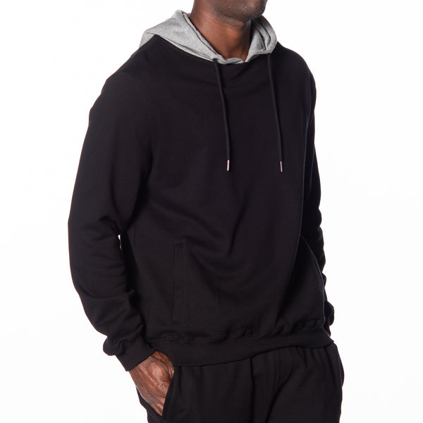 Contrast Hood Pullover