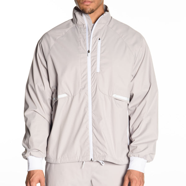 Lightweight Mock Neck Nylon Jacket