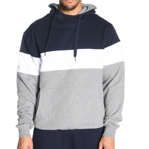 Tri Panel Pull Over Hoodie