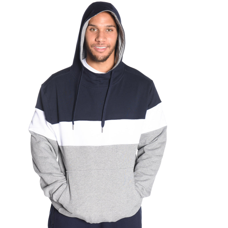 Tri Panel Pullover Hoodie