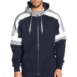 Tri Color Full Zip Hoodie