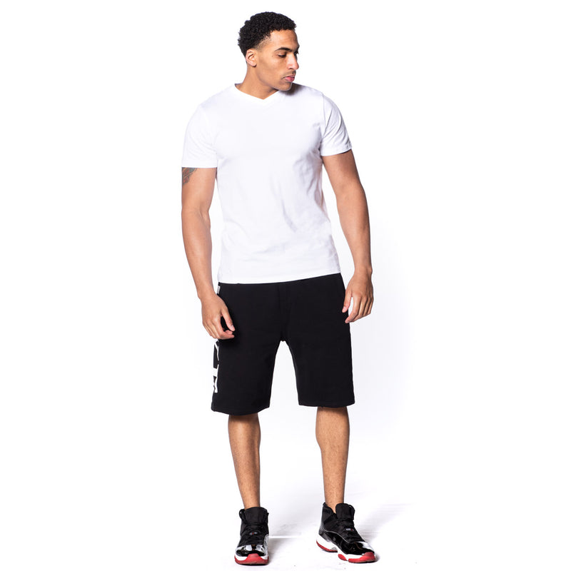 White Fitted Vee Neck T-Shirt