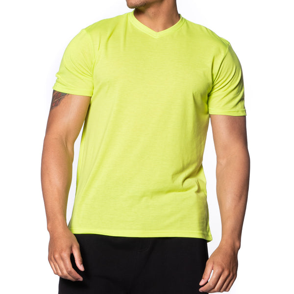 Fitted Vee Neck T-Shirt - Colors