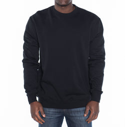 French Terry Crew Neck Pullover Sweatshirt