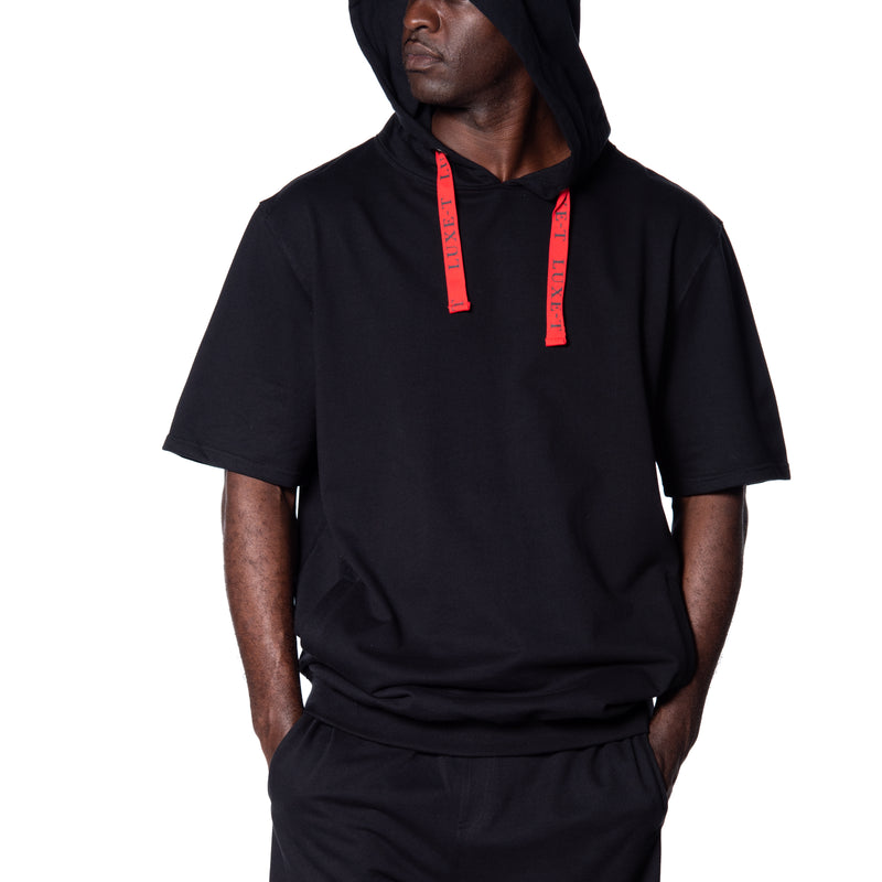 Logo Short Sleeve French Terry Hoodie