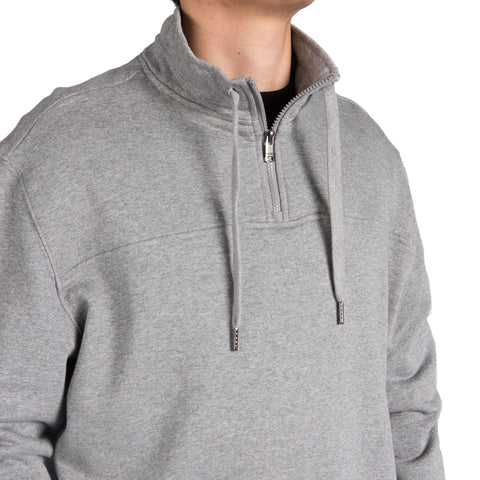 French Terry 1/4 zip Mock Neck Sweat Shirt