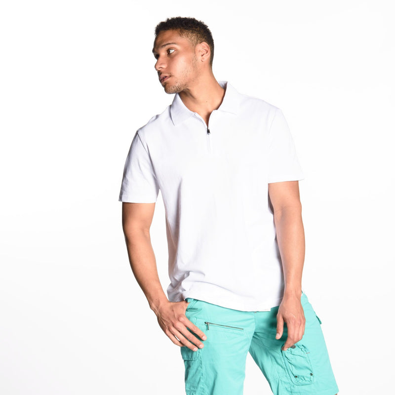 1/4 Zip Short Sleeve Polo Shirt