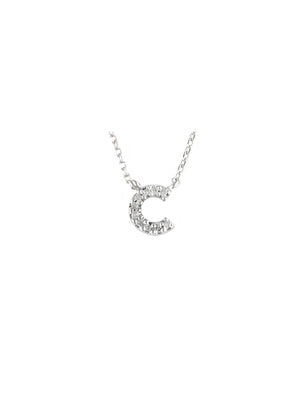 Mini Diamond Letter Necklace