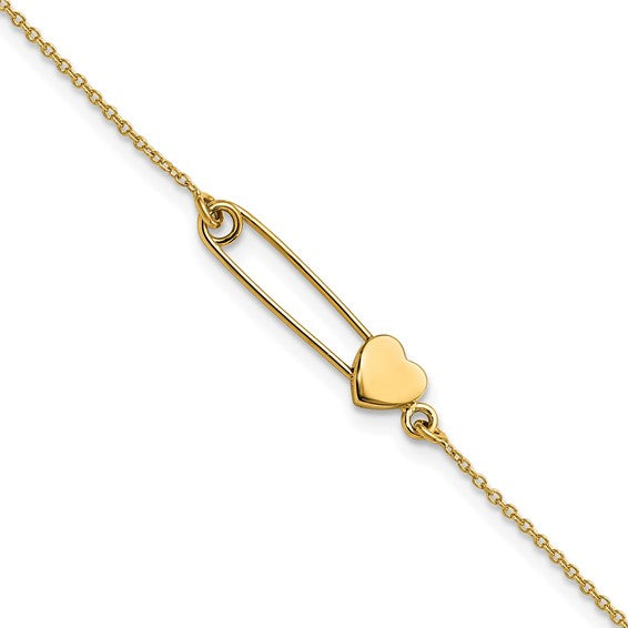 14 KT Safety Pin Bracelet