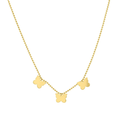 14 KT Children's Butterfly Necklace