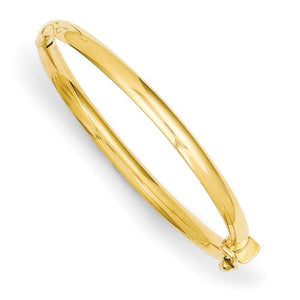 14 KT Gold First Children's Bangle Bracelet 5 inch