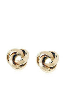 14 KT Children's First knot screw back earrings