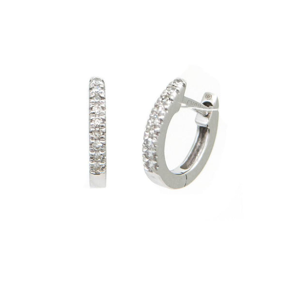 14 KT Baby diamond huggie earrings