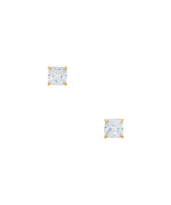 14KT Baby CZ screw back earrings