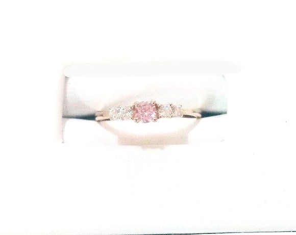 14 KT Children's Ring with Pink and clear stones