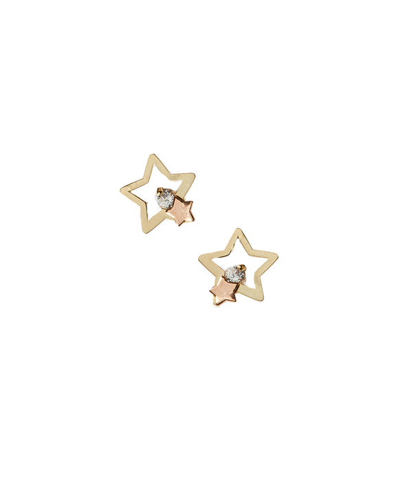 14 KT Children's  star earrings stud