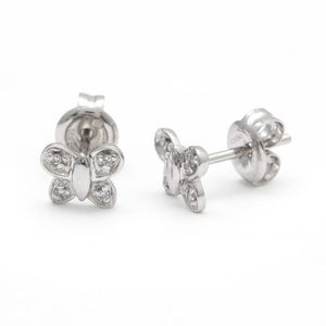 14 KT Teen Diamond Butterfly stud Earrings