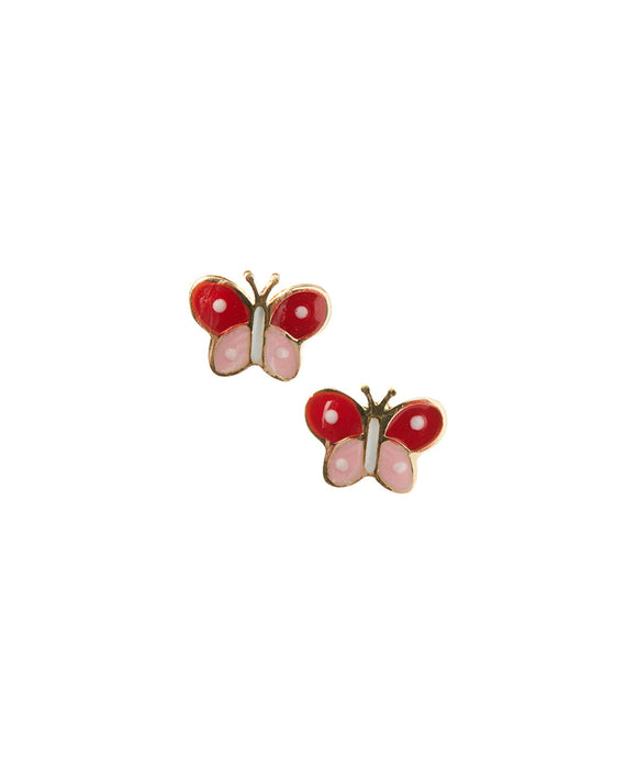 14 KT Children's Butterfly screw back earring