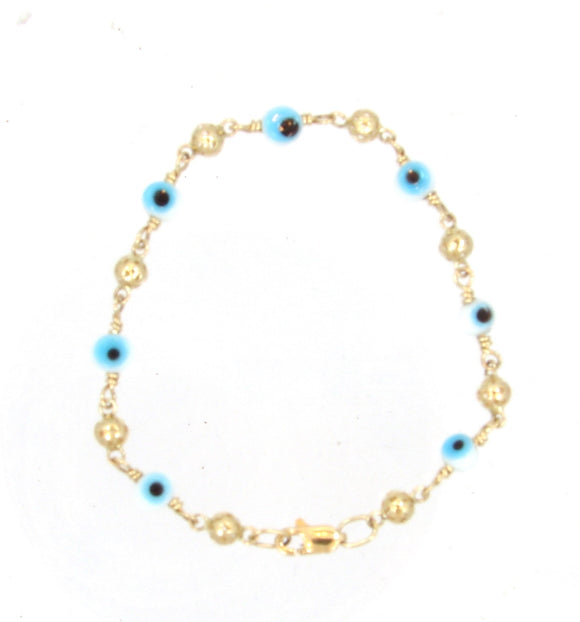 14 KT Children's lucky eye bracelets