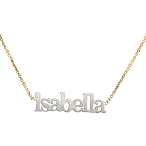 Sterling Name Necklace free extra loop thick cut