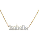Nameplate sterling silver or gold plated necklaces