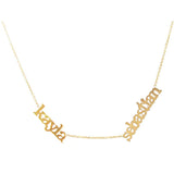 Name Necklace 14KT Gold