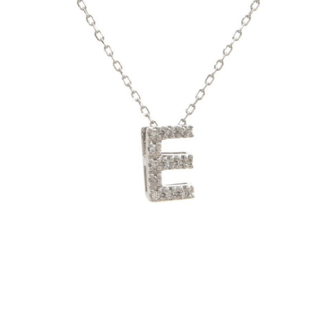 Diamond Initial Letter Necklace