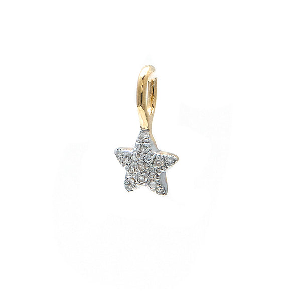 14 KT Diamond Star Charm