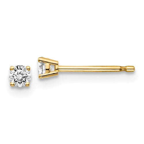 14 KT Children's Diamond Stud earrings