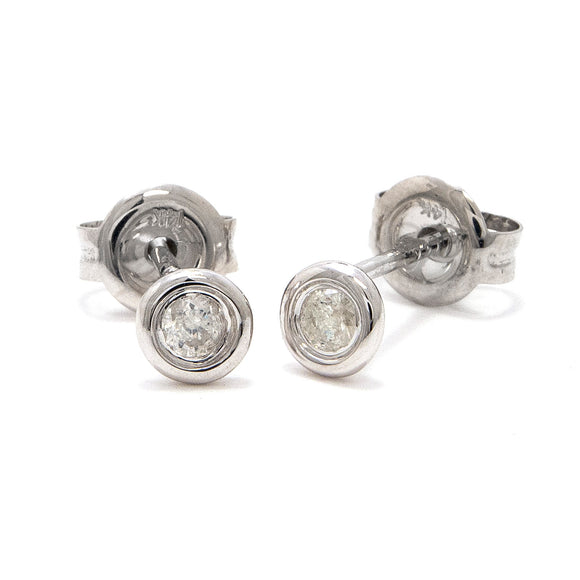 Baby diamond deluxe stud earrings .10 ct genuine diamonds