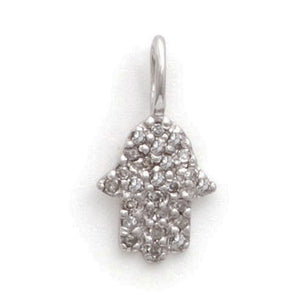 Tiny diamond hamsa charm symbol