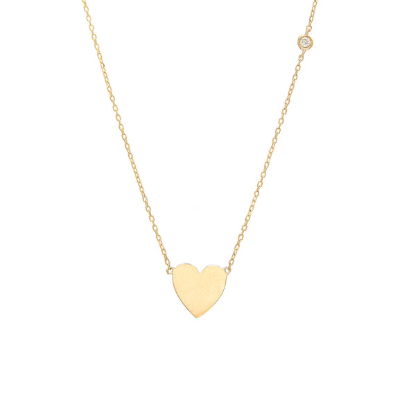 14 KT Happy Heart necklace with diamond