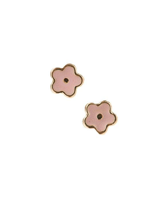 14KT Happy Flower earrings screw back