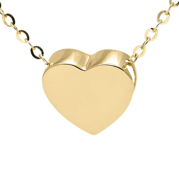 14 KT Children's Heart Slide on chain necklace