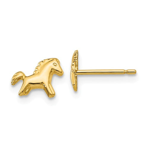 14 KT Children's Horse stud Earrings