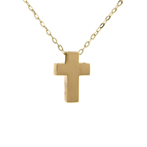 14 KT Slide on cross necklace