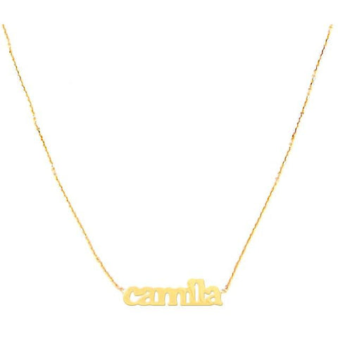 14 KT Name Necklaces 1-5 names unlimited letters