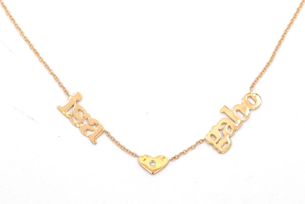 14 KT Multiple Name Necklaces with Symbol