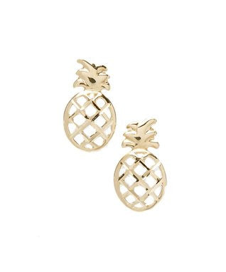 14 KT Kid's Open Pineapple Stud Earrings