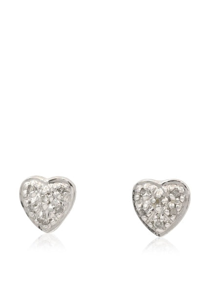 14 KT Children's Pave diamond studs