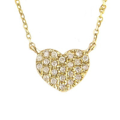 14 KT Teen Diamond Flat heart necklaces