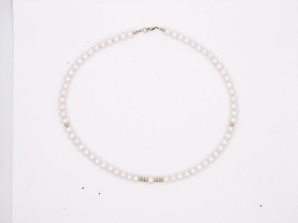14KT Girl's PEARL Princess Necklace