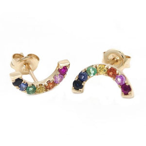 14 KT Pride Rainbow Stud earrings