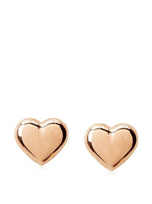 14 KT Children's Heart Stud pink gold