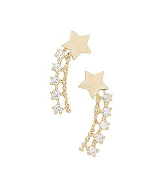14 KT Children's star climber stud earrings